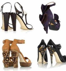 Sculptured heels by Guiseppe Zanotti